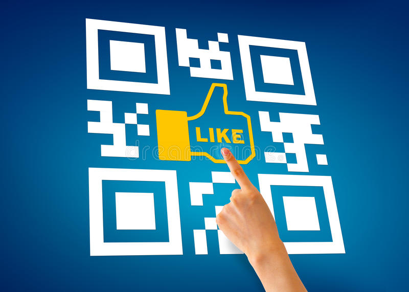 Download I Like QR Code editorial stock photo. Image of identification - 24782108