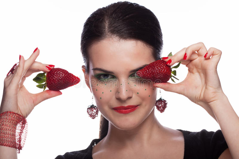 I like strawberry stock photography