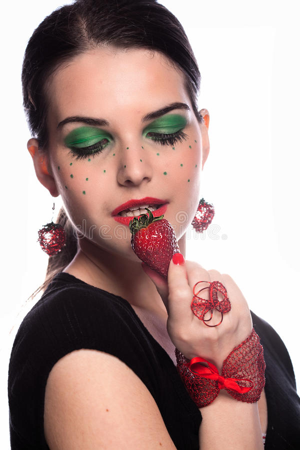 I like strawberry royalty free stock images