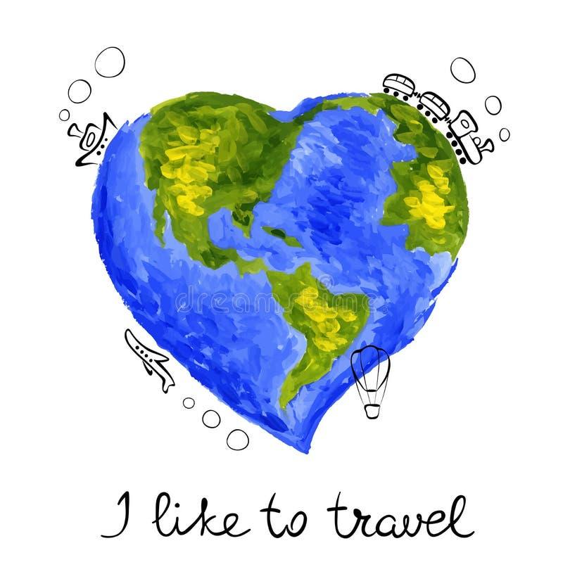 I like to travel royalty free illustration