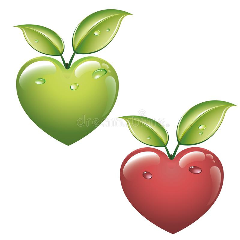 I like Toffee apples vector illustration