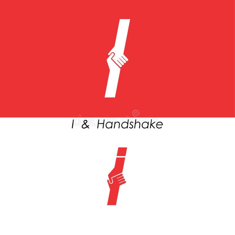 I - Listowy abstrakcjonistyczny ikony & ręka loga projekta wektoru szablon Herbata ilustracja wektor