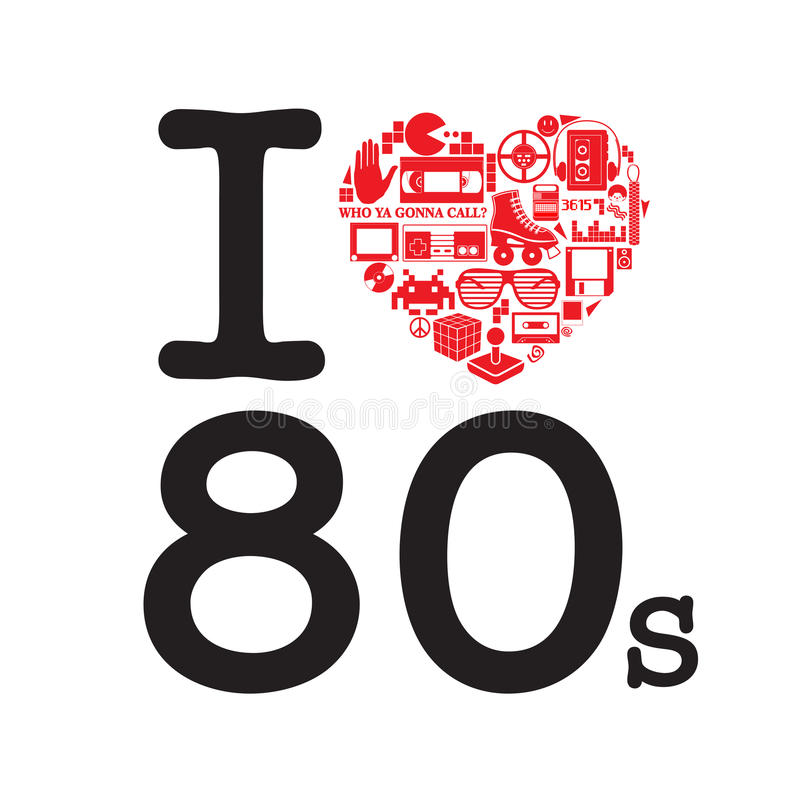 1182+ I Love The 80S Svg for Silhouette