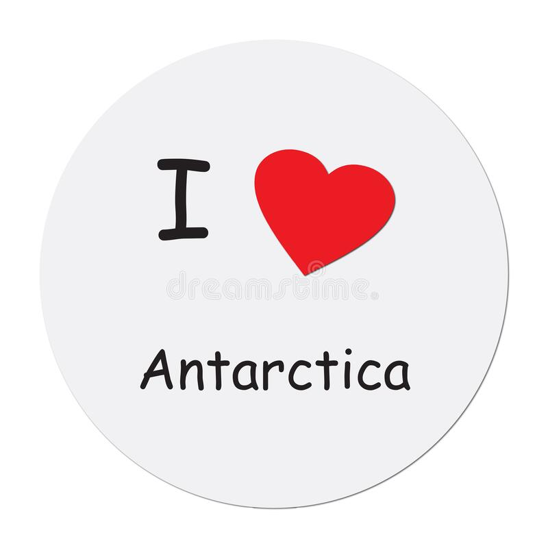 I love antarctica on white. Background vector illustration
