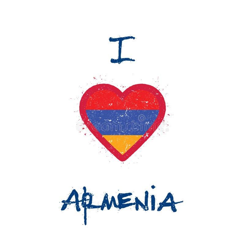 I love Armenia t-shirt design. vector illustration