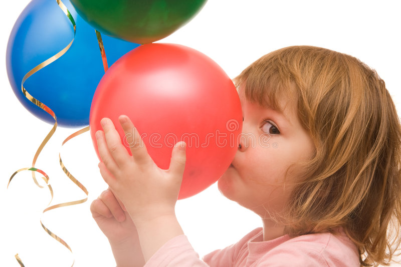 I love balloons! royalty free stock image