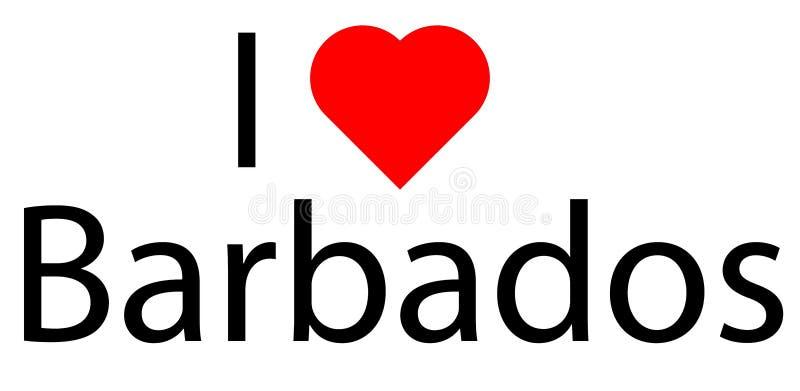 I love Barbados royalty free stock photo