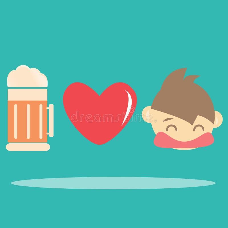 Download I love beer stock vector. Illustration of bottle, beer - 31638175