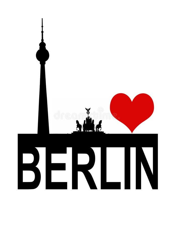 I love berlin. For design stock illustration