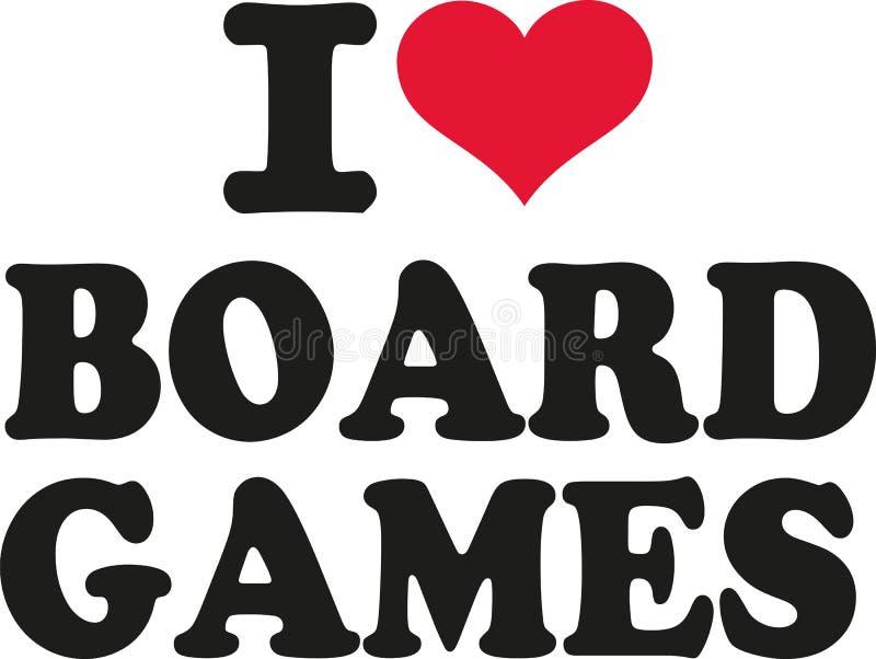 I love board games vector illustration