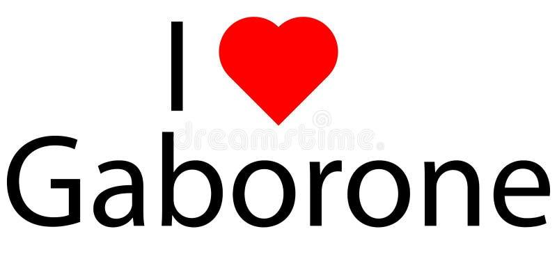 I love Caborone stock image