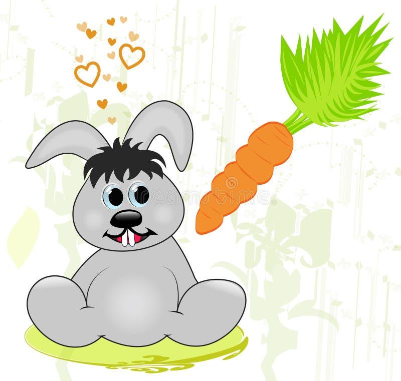 I love carrots stock image