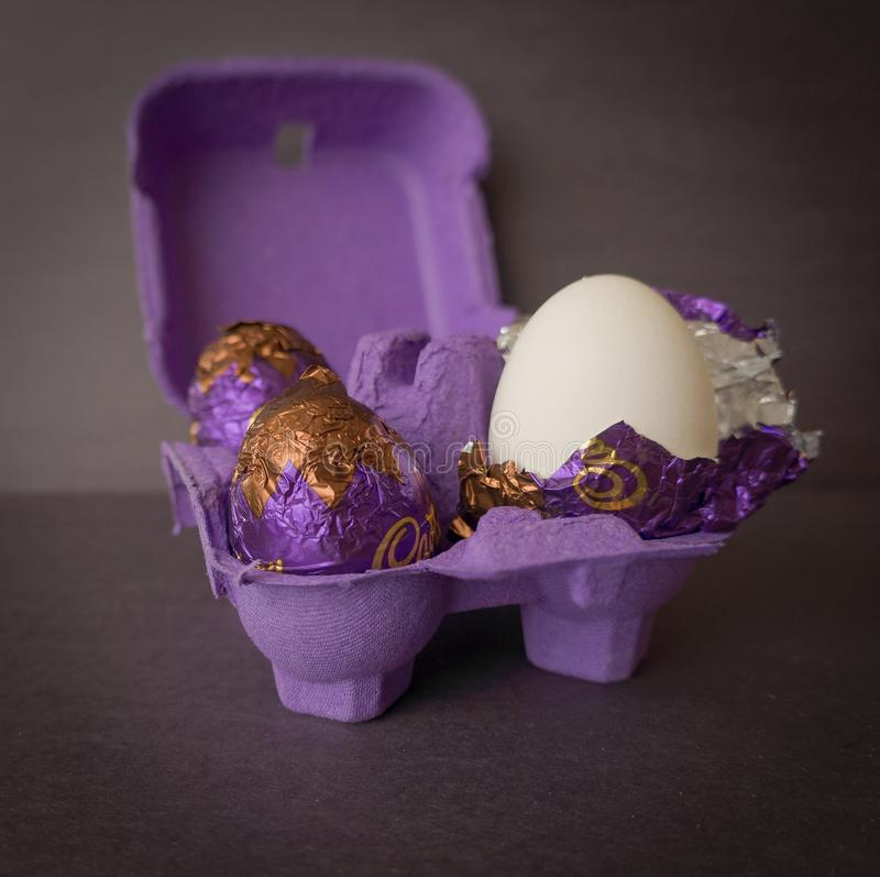 I love chocolat and eggs royalty free stock images