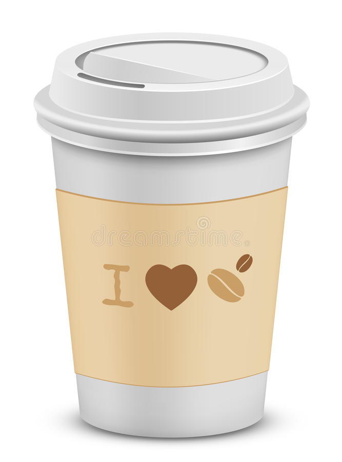 Download I love coffee stock vector. Illustration of drink, graphic - 18457614