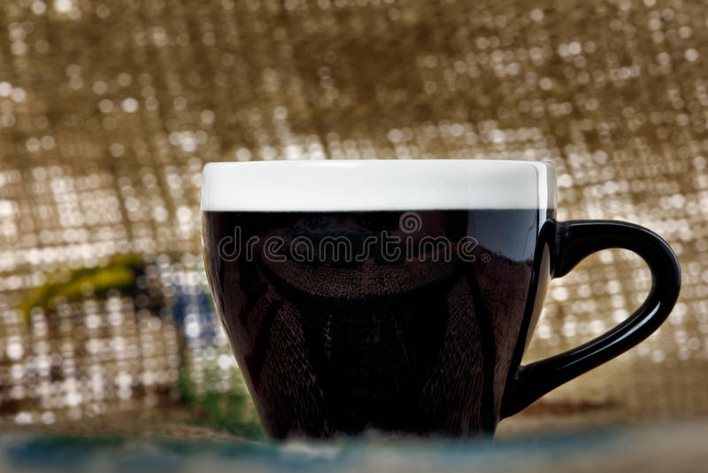 I love coffee. The abstract concept of a simple subject stock image