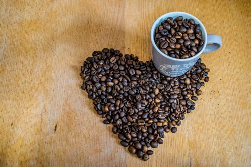 I love coffee. Coffee beans stock photography