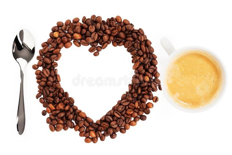 Download I love coffee beans stock photo. Image of cream, liquid - 29810690