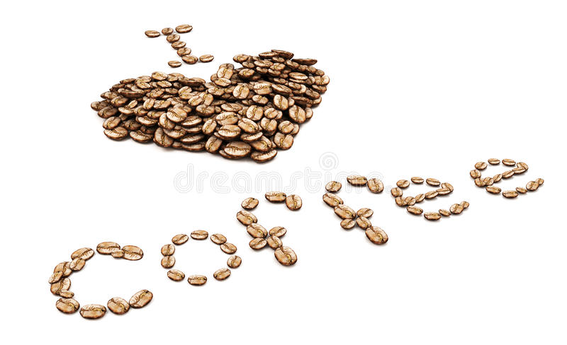 I Love Coffee Isolated On White Background Royalty Free Stock Image