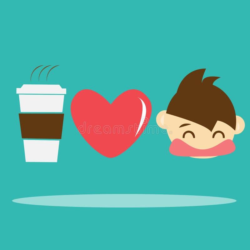 Download I love Coffee stock vector. Image of concept, black, espresso - 31639789