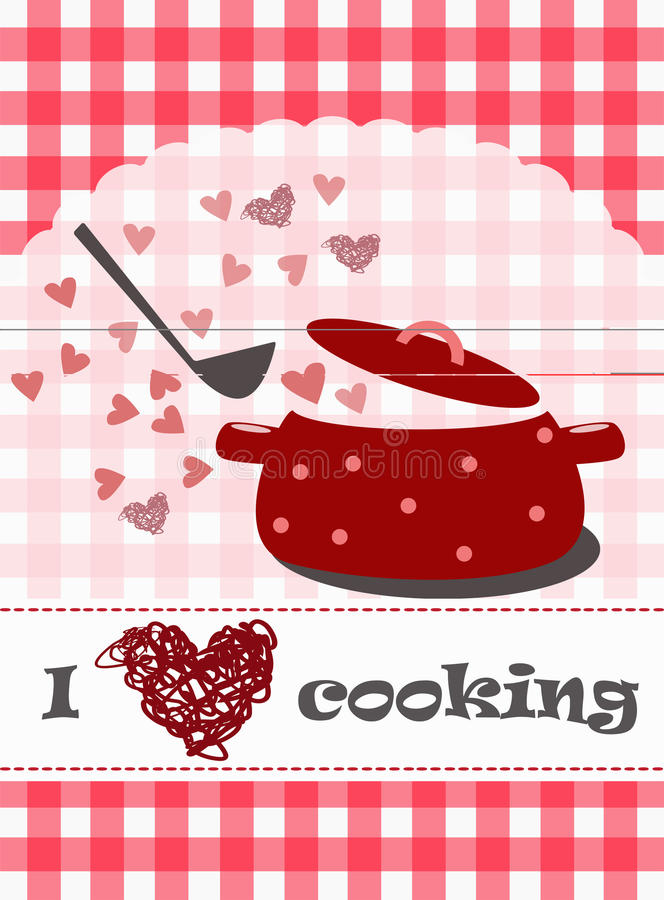 I love cooking concept. Vector illustration of cooking concept with kitchen utensils vector illustration