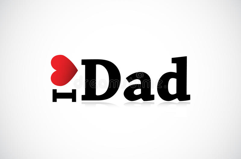 Download I Love Dad stock vector. Illustration of father, mother - 21598353