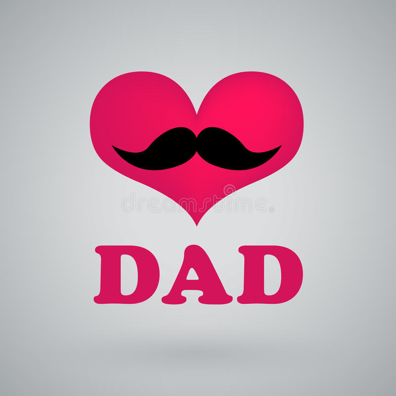 I love dad, happy fathers day royalty free illustration