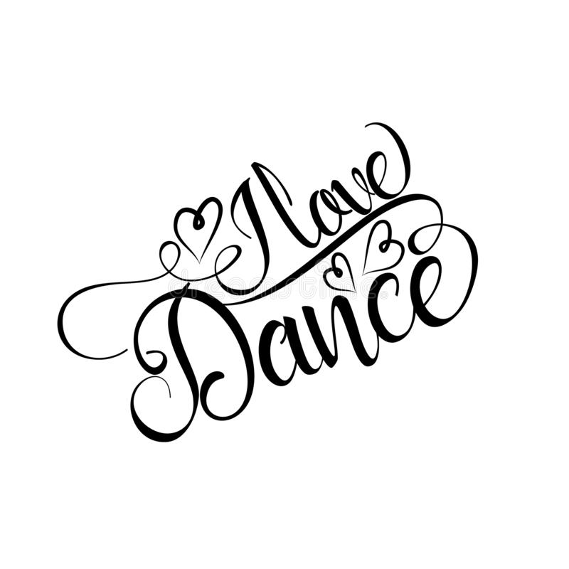 Download Dance Love Live. Inspirational Quote In Modern Calligraphy ...