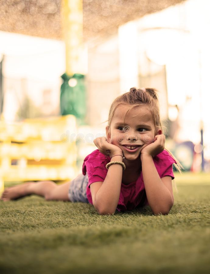 I love days in playground. royalty free stock photos