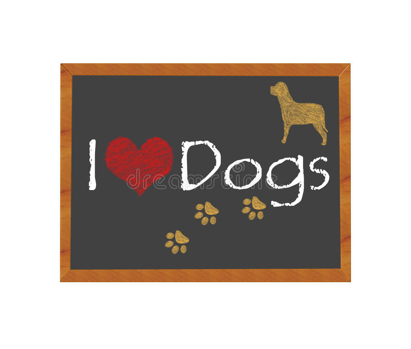 Download I love Dogs stock illustration. Illustration of claw - 39506842
