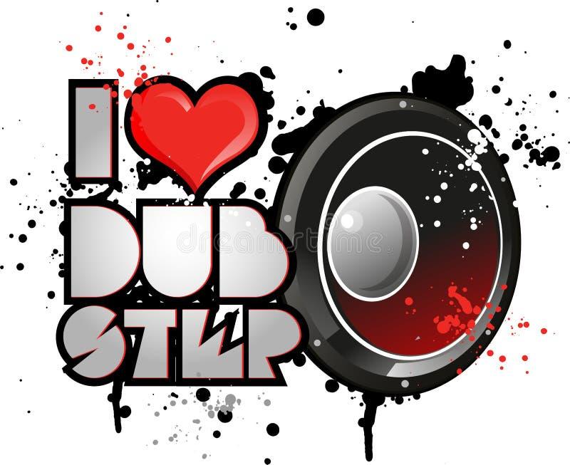 I love dub step music royalty free illustration