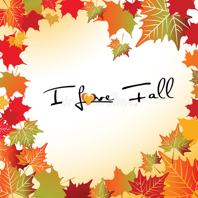 I love Fall stock illustration