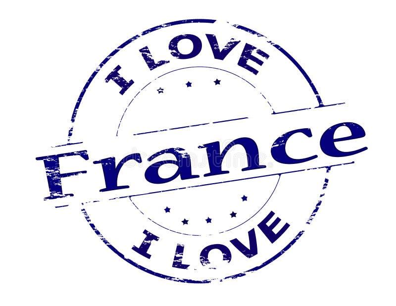 I love France. Rubber stamp with text i love France inside, illustration stock illustration