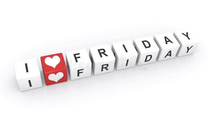 I love Friday sign royalty free stock images