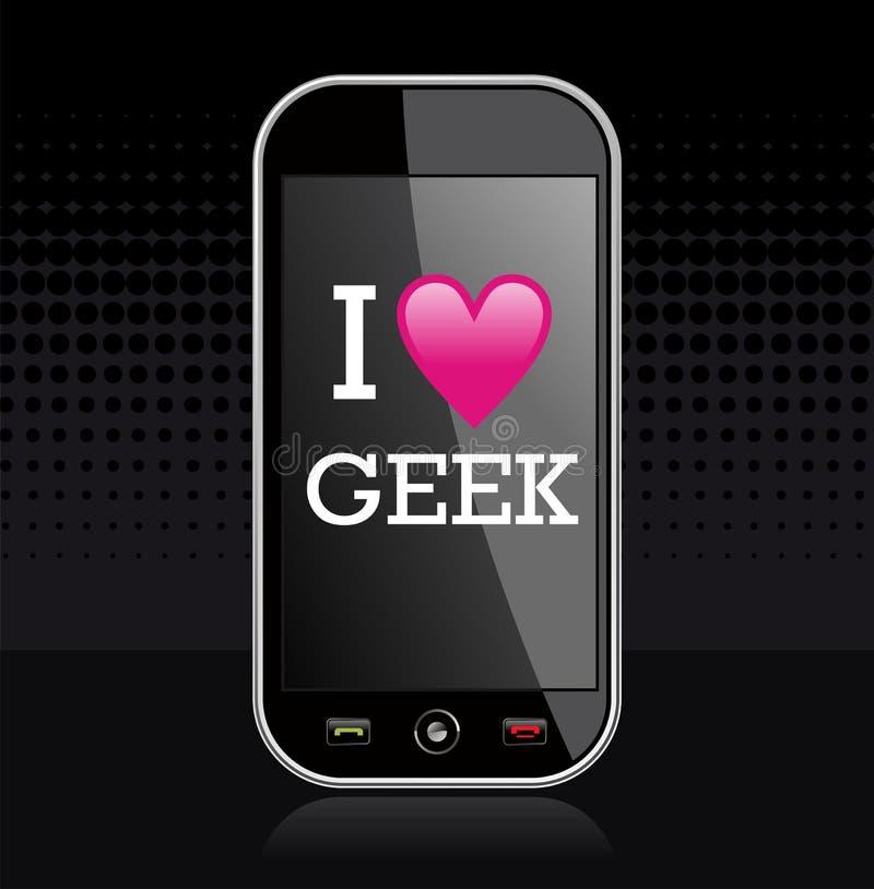 Download I love geek illustration stock vector. Illustration of community - 24642531