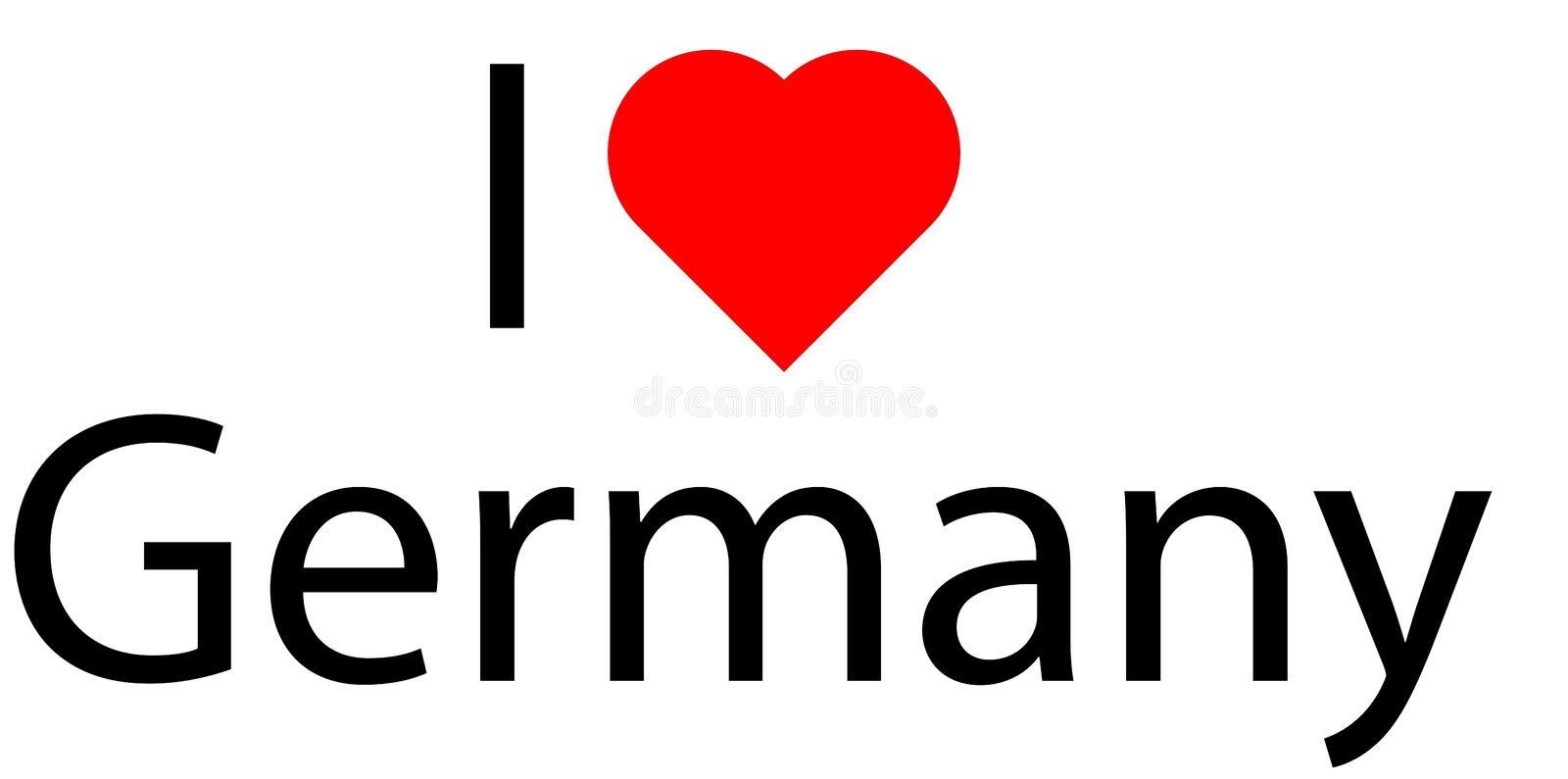 I love Germany royalty free stock images