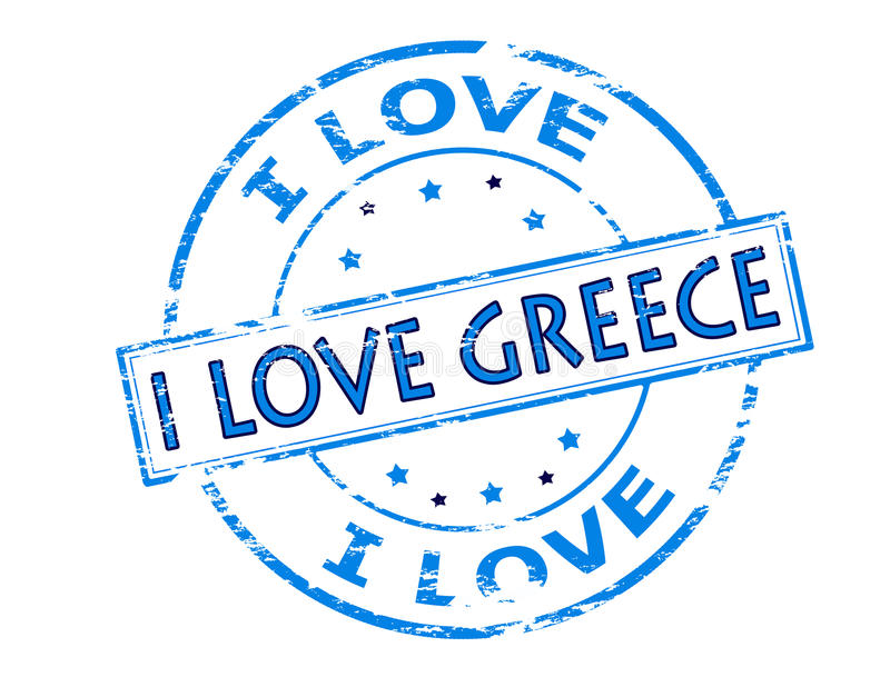 I love Greece. Rubber stamp with text i love Greece inside, illustration vector illustration