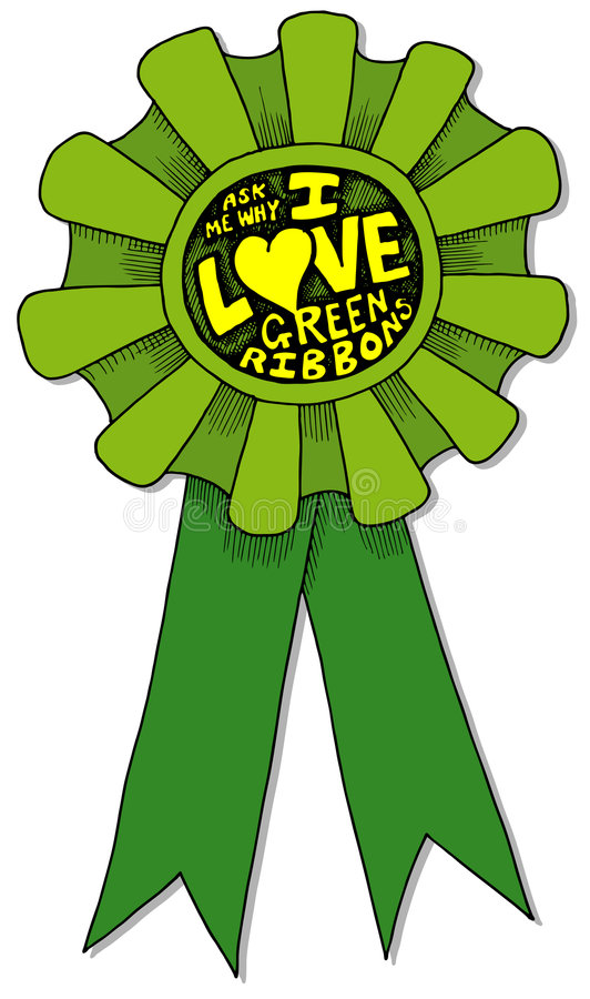 Download I Love Green Ribbons Royalty Free Stock Images - Image: 2090059