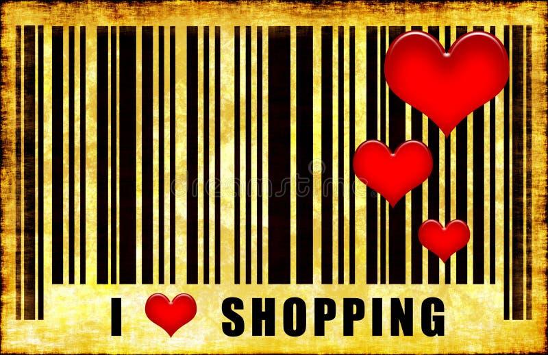 I Love Heart Shopping stock photos