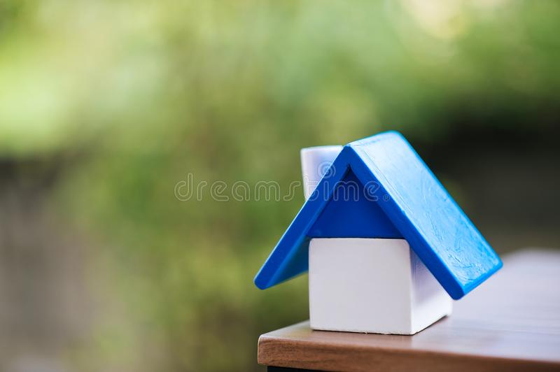 I love the house of our dreams. stock photos
