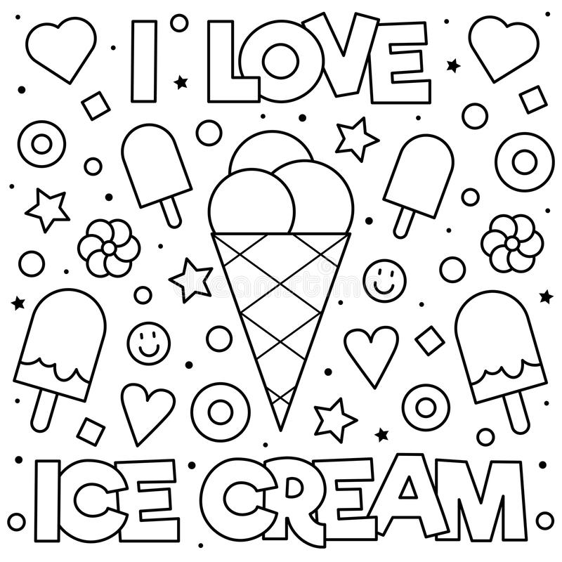 Coloring page. Vector illustration. stock images
