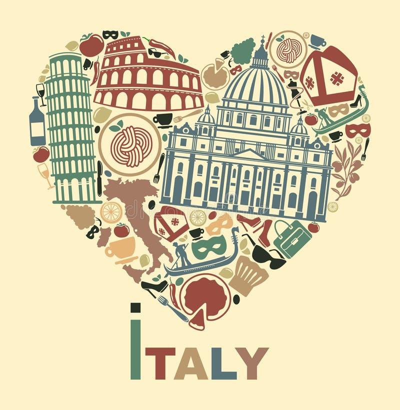 I Love Italy Stock Vector