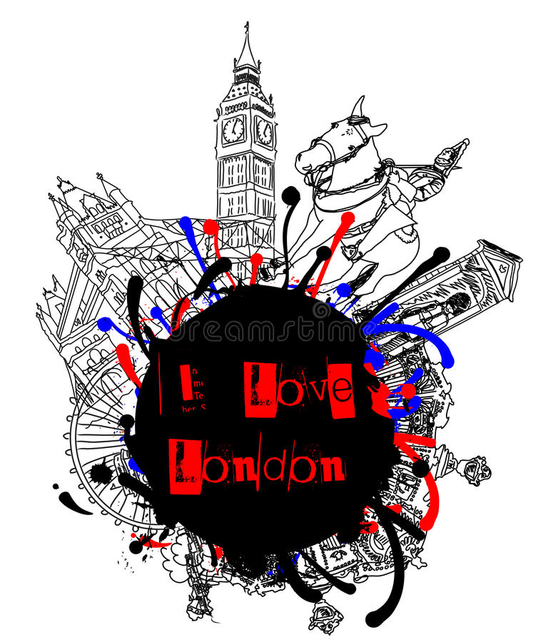 I Love London Grunge Royalty Free Stock Images