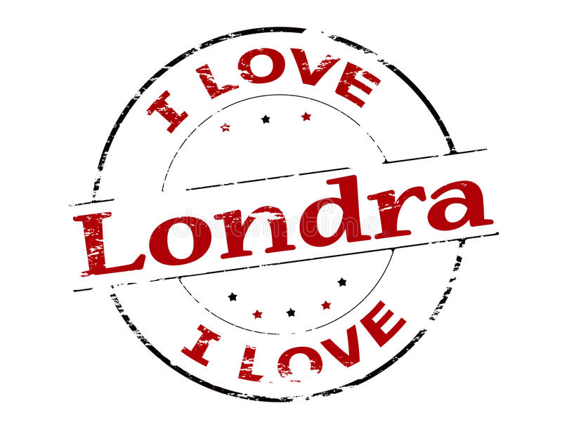 I love London. Rubber stamp with text i love London inside, illustration vector illustration