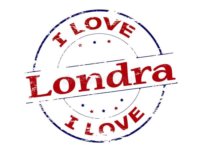 I love London. Rubber stamp with text i love London inside, vector illustration stock illustration