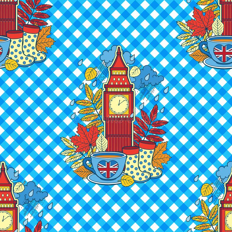 I Love London And Tea Time Design For Background And