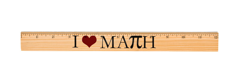 I Love Math Ruler stock image