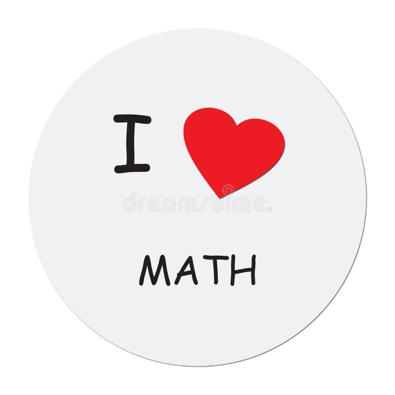 I love math on white. Background stock illustration