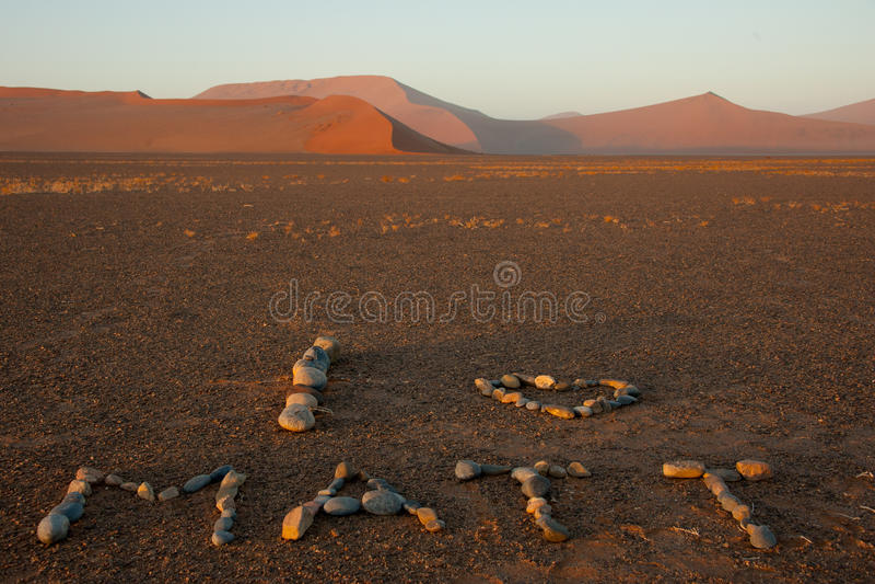 I love Matt, Sossusvlei National Park, Namibia royalty free stock photos