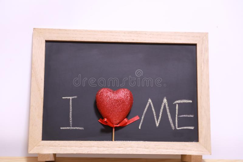 I love me blackboard royalty free stock photos