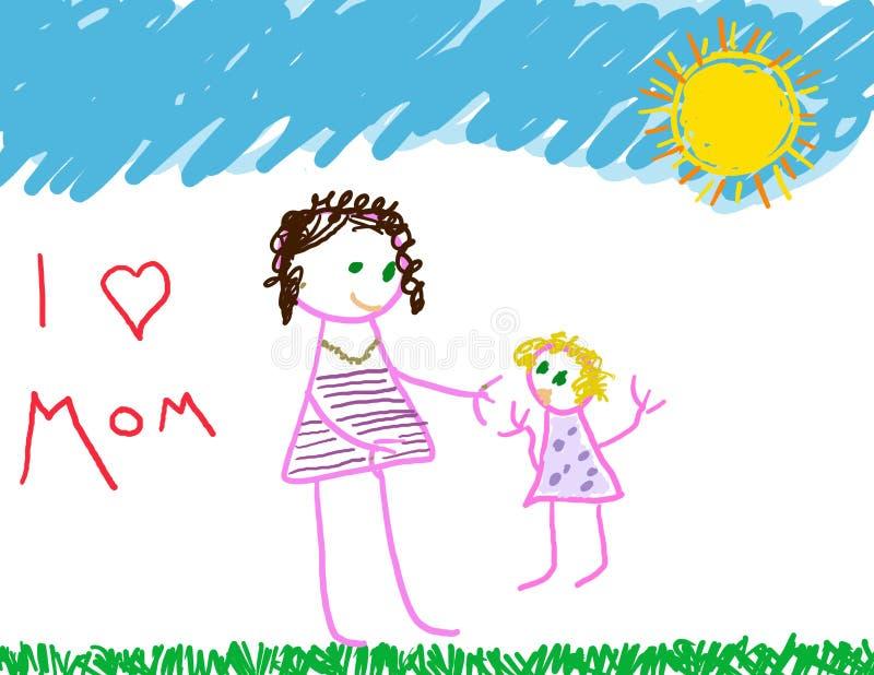 I love Mom stock illustration